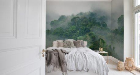 Misty forest behang Rebel Walls