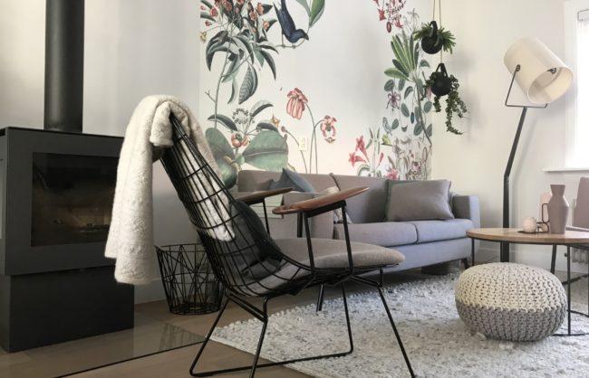 Interieurontwerp Pastoe en botanisch behang Buro Binnenkans
